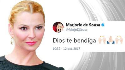 Marjorie de Sousa manda mensaje en twitter al momento que el abogado de...