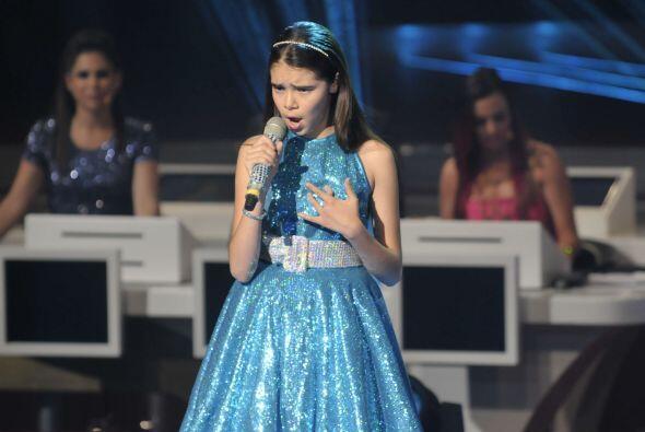 La pequeña cantó con mucha madurez y sentimiento.