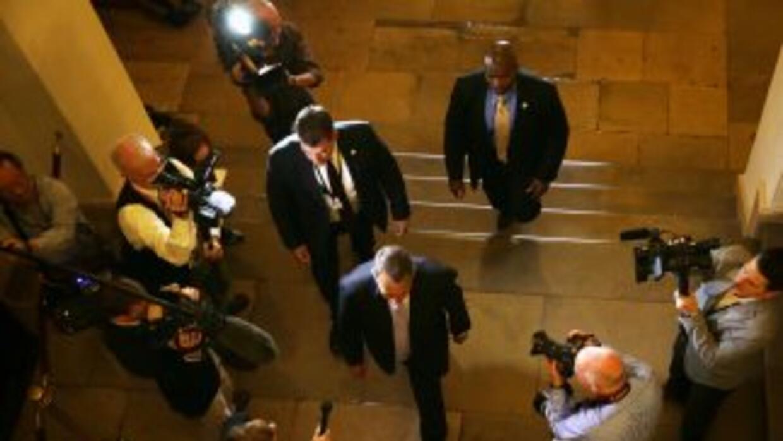 Líderes republicanos de la Cámara de Representantes se reúnen para debat...