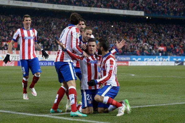 El cabezazo fue lapidario e hizo estallar de alegría al Vicente Calderón.