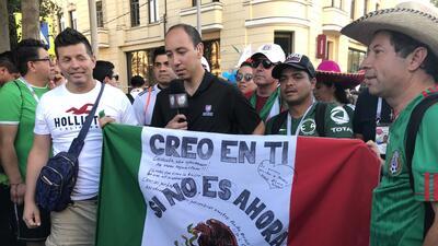 ¡A la carga! Aficionados mexicanos se 'adueñaron' de la pequeña Rostov