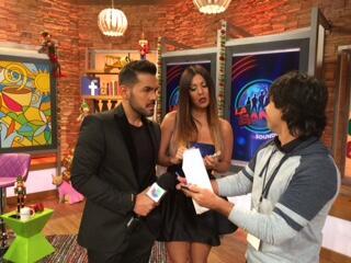 José Santana y Saritza Alvarado disfrutaron de la transmisión del show p...