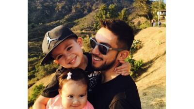 Pedro Morales y sus hijos en Hollywood.