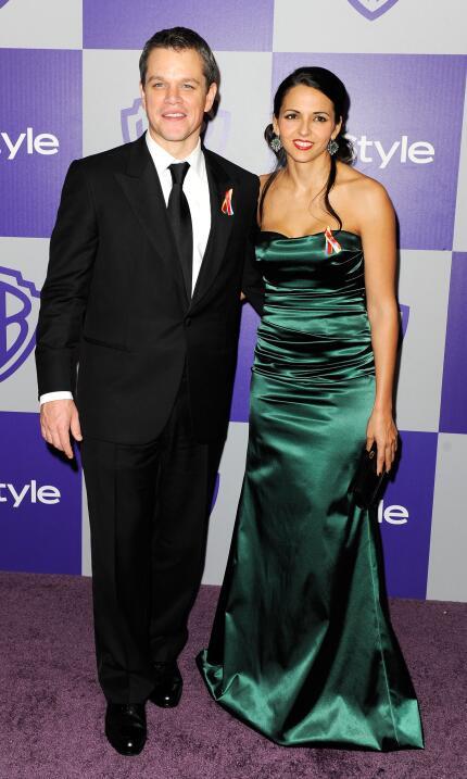 Matt Damon y Luciana Bozán