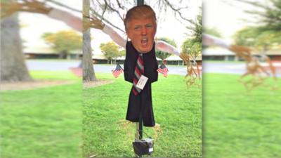 La imagen del presidente Donald Trump fue usada para crear un espantap&a...