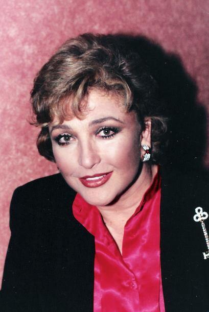 Angélica María en 1996, cuando actuaba en la telenovela &q...