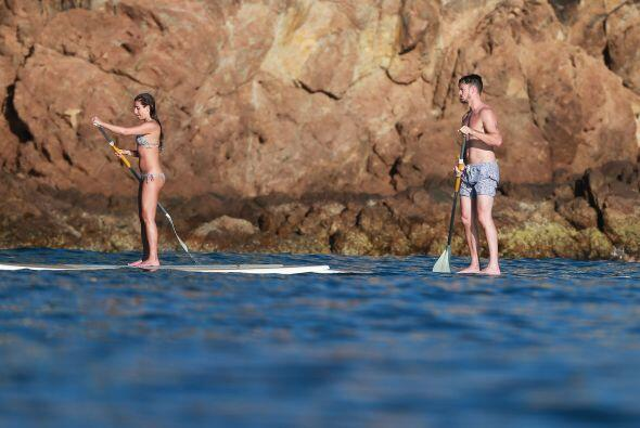 La actriz de 'Glee' y su novio, Matthew Paetz, disfrutan del inicio de 2...