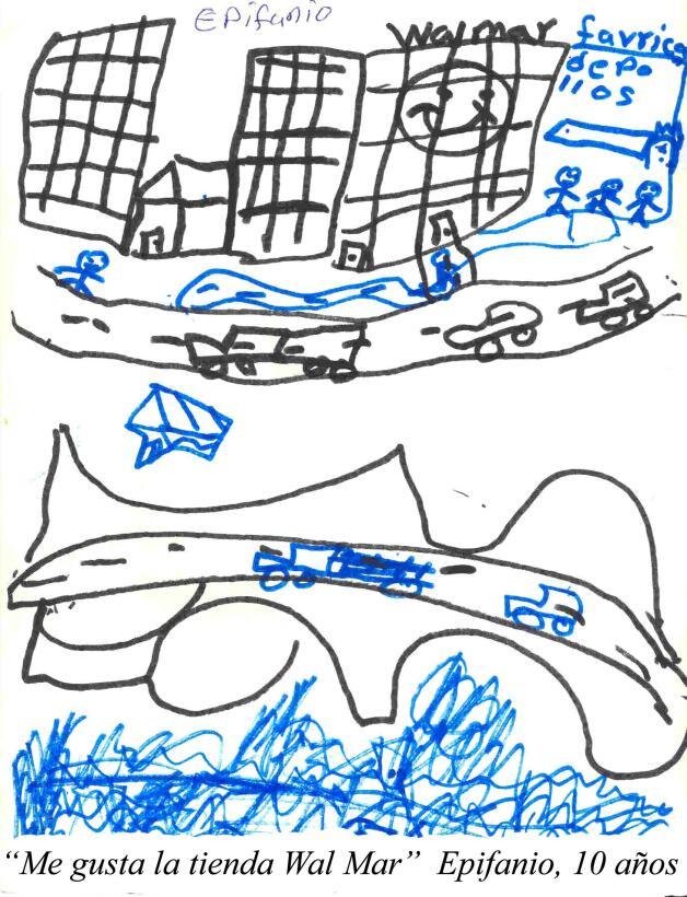 En dibujos como el de Epifanio, de 10 años, los niños dan cuenta de su t...