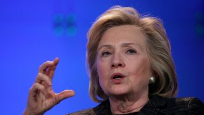 La ex Secretaria de Estado de Estados Unidos, Hillarry Clinton.