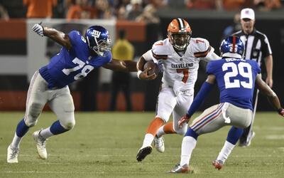 Los Browns vencen a los Giants en el cierre de la Semana 2 de la pretemp...