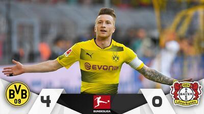 El Dortmund golea al Bayer y asegura Europa para la próxima temporada