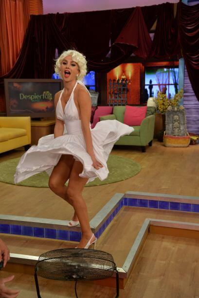 Esta mañana, al estudio de Despierta América llegó Marilyn Monroe, una d...