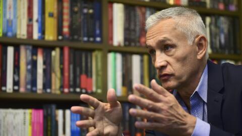 El periodista Jorge Ramos en una entrevista en Ciudad de México.