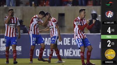 Atlético remontó a los Dorados de Maradona y San Luis es campeón de la Liga de Ascenso