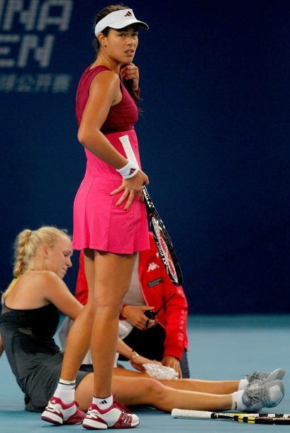 La serbia Ana Ivanovic mostró preocupación ante la posible salida del pa...