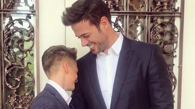 El hijo de William Levy ahora se prepara para tener los músculos de su papá