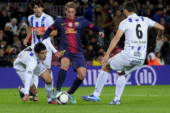Barcelona y Alavés ya no hicieron más goles, pero el triunfo sólo fue pa...