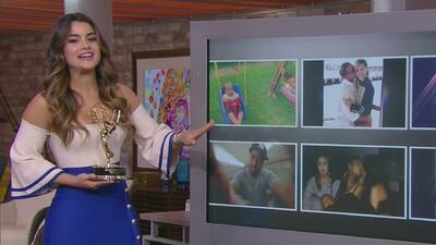 Con Emmy en mano, Clarissa Molina nos mostró la foto de Ariana Grande besando a su prima en la boca