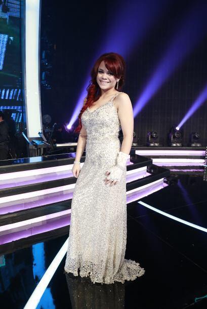 Ana Cristina al final de la gala 11.