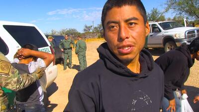 En fotos: Un grupo de inmigrantes indocumentados rescatados en la frontera de Arizona