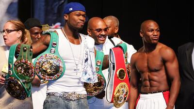 La pelea de Mayweather con 50 Cent: lluvia de insultos y hasta miles de dólares de premio