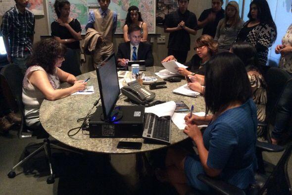 Varios estudiantes expresaron su deseo de estudiar el periodismo en el f...