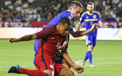 Tyler Adams, durante el amistoso de enero ante Bosnia-Herzegovina.