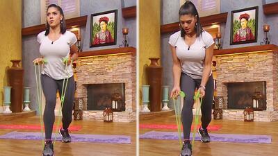 Francisca comprobó la efectividad de estas bandas elásticas para ejercitar sus músculos