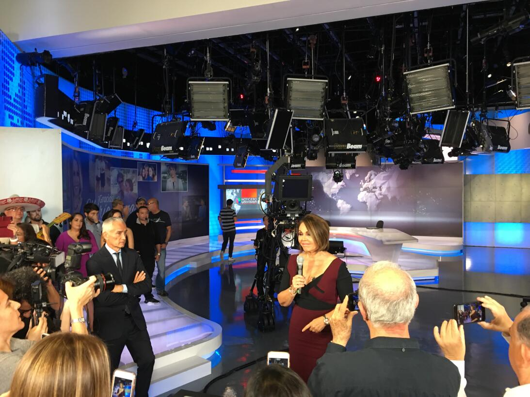 Maria Elena Salinas after her last news Univision broadcast