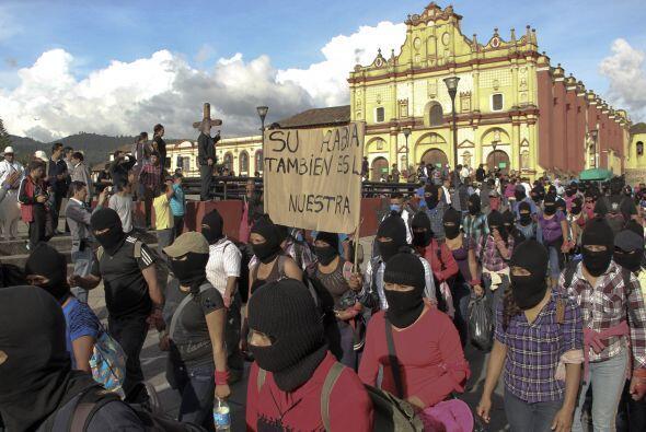 Una protesta más ocurrió en San Cristobal de las Casas, en el estado de...