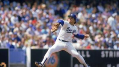 Fernando Valenzuela, ídolo de la afición de los Dodgers.
