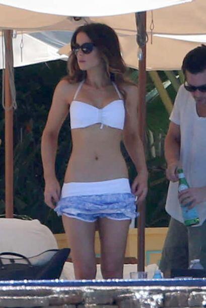 Las playas mexicanas se convirtieron en el paraíso cuando Kate Beckinsal...