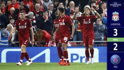 Golpe de autoridad: En juegazo, Liverpool le pegó al PSG