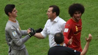 Bélgica sufrió para conseguir el gol pero al final se impuso por la míni...