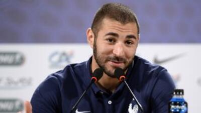 Benzema señaló que se encuentra feliz por el nivel mostrado de Francia.
