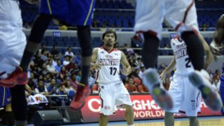 Manny Pacquiao en los playoffs de la Liga de Filipinas.