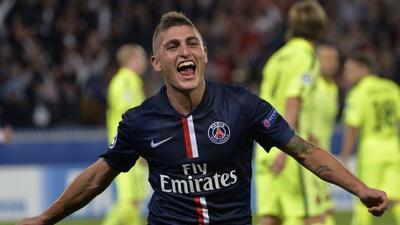 El mediocampista italiano marcó el segundo gol de los parisinos.
