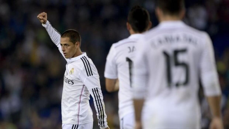 El delantero mexicano marcó el tercer gol del Real Madrid.