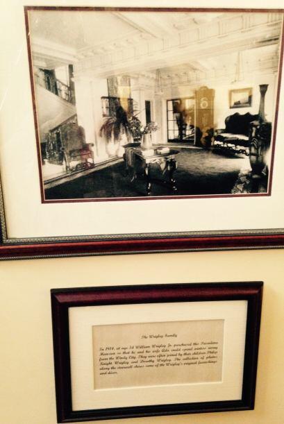 La mansión perteneció a la millonaria familia  Wrigley ori...