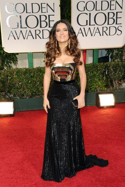 En 2012, Salma Hayek portó un vestido Gucci, creado especialmente...