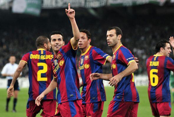 En el minuto 27 llegó el primer gol del juego, obra de Pedro.