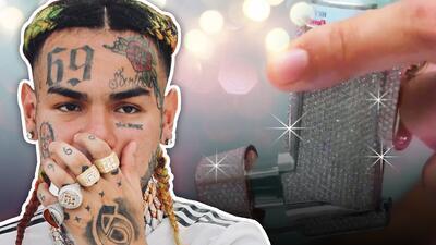 El rapero 6ix9ine encuentra en un inhalador lleno de costosos diamantes la cura para el asma que sufre