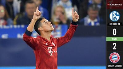 James Rodríguez lidera un nuevo triunfo del Bayern de Múnich