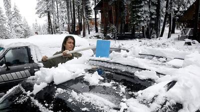Llegó el invierno a Sierra Nevada, en el norte de California