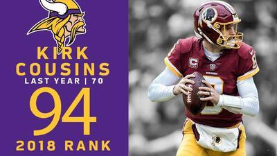 #94 Kirk Cousins (QB, Vikings) | Top 100 Jugadores NFL 2018