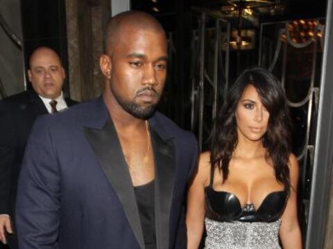 Kim Kardashian y Kanye West asistieron a los GQ Awards en Londres.
