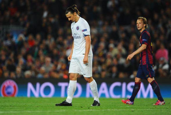 Zlatan Ibrahimovic no pudo ayudar al PSG a remontar en el marcador.