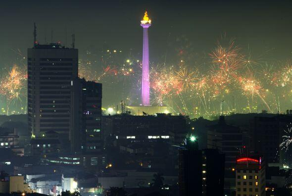Festival de luces en Yakarta, Indonesia.