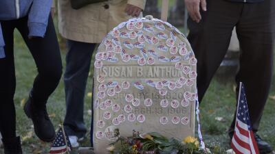 La tumba de la activista Susan B. Anthony  en la ciudad de Nueva York