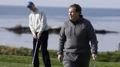 Belichick disfrutó del torneo de golf en California (AP-NFL).